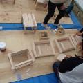 親子で木工体験(西条市、うちぬきプロジェクト)